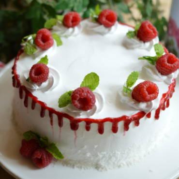 Coconut Raspberry Cake
